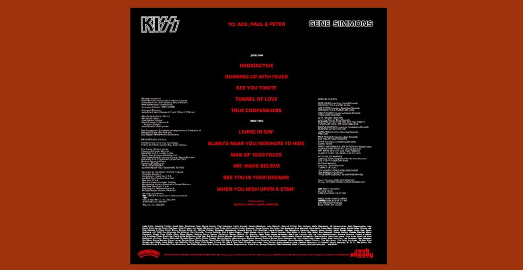 Gene Simmons back cover